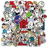JUNZE Pegatinas de Maleta Snoopy, Bonitas Pegatinas de decoración para Maletas, Pegatinas de Anime de Dibujos Animados...