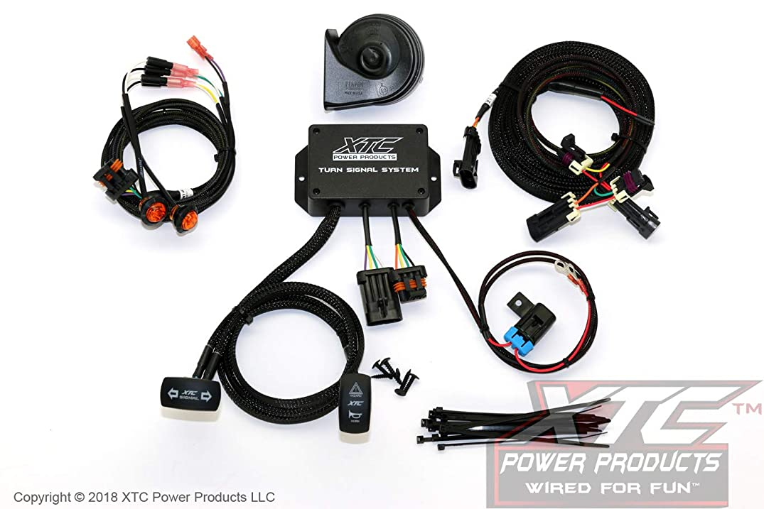 XTC Power Products Honda Pioneer 1000 Street Legal Turn Signal System with Horn - Plug & Play - Uses Factory Tail Lights