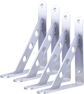 Stainless Steel Heavy-duty Shelf Bracket, Floating Triangle Bracket, Right-angle DIY Wall-mounted L Bracket, Used To Save ...