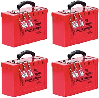 Master Lock Lockout Tagout Lock Box, Latch Tight Portable Group Lock Box, 498A (Pack of 3)