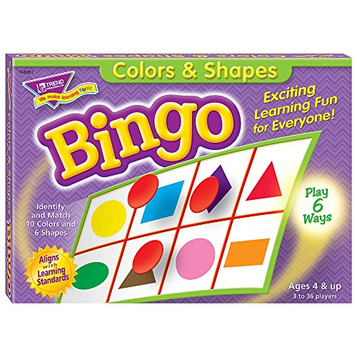 Colors And Shapes Bingo, For Ages 4 And Up