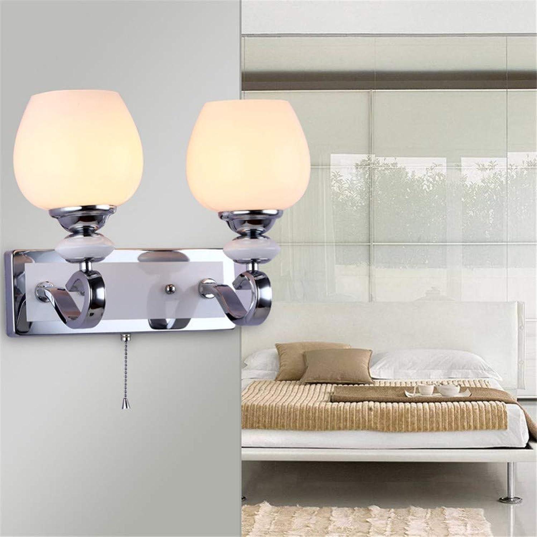 FTZHL Modernes minimalistisches Glas mit Zugschalter Licht Wandlampe Wandlicht Leuchter Wandbeleuchtung Wandleuchte Moderner Stil Beleuchtung Schlafzimmer,Wohnzimmer,Bad