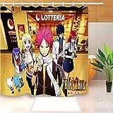 N / A Hochwertiger Anime Duschvorhang Polyester Stoff Badvorhang Wasserdicht bedruckter Badvorhang-B180cmxH200cm