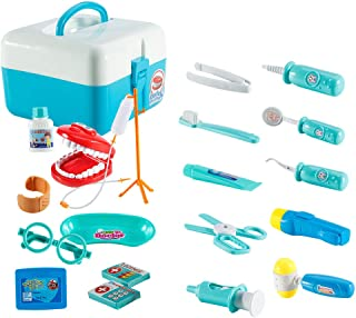 FunsLane Dentist Toy Doctor Kit for Kids, 20 Pcs Pretend Play Dentist Tools Medical Set for Toddlers Costume Role Play, Sc...