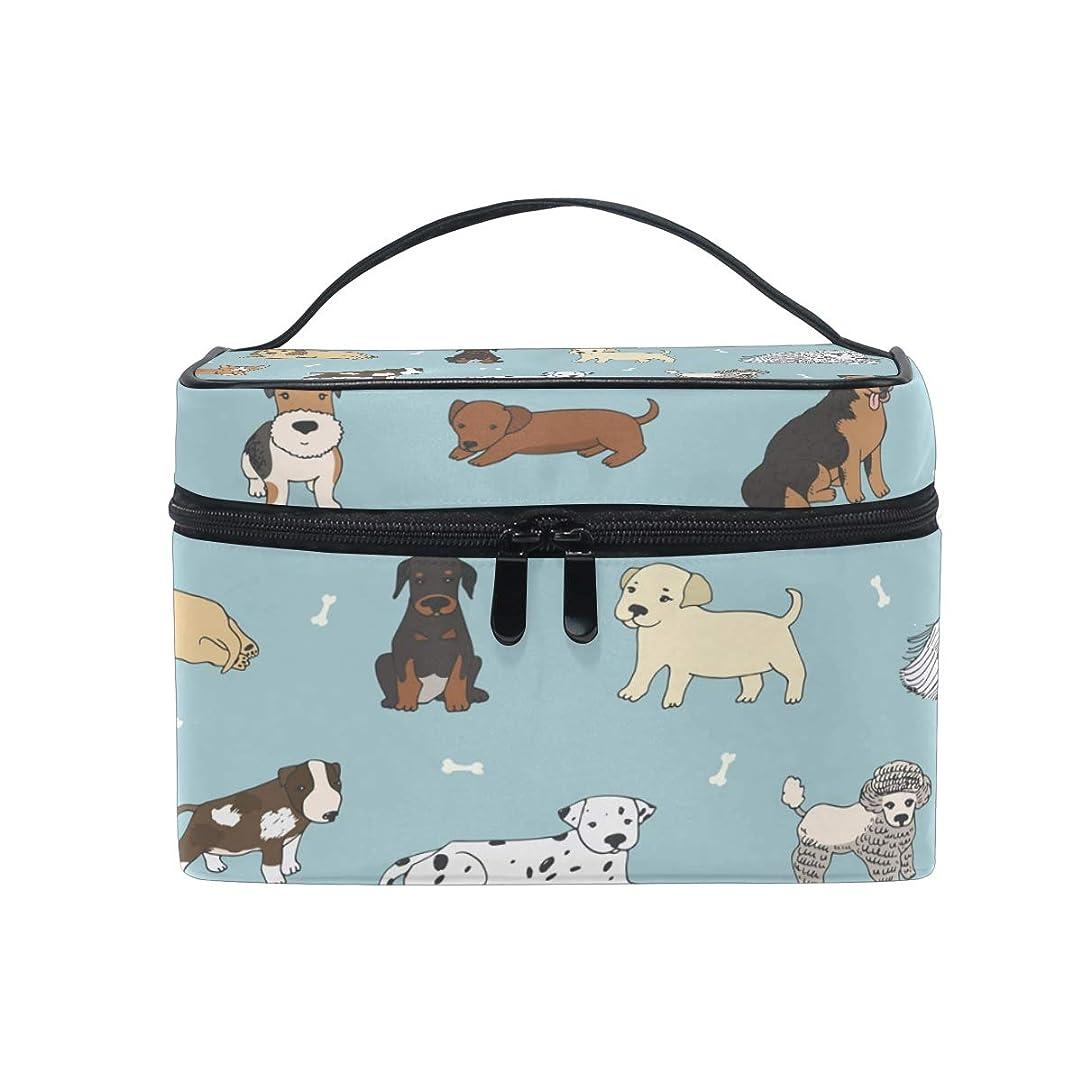 誤解を招く発表するイタリアのUOOYA 犬柄 おしゃれ メイクボックス 大容量 持ち運び メイクポーチ 人気 小物入れ 通学 通勤 旅行用 プレゼント用