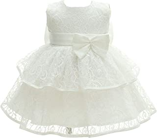 Bow Dream Baby Girl Wedding Dresses Formal Christening Baptism Party