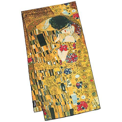 VON LILIENFELD Seidenschal Damen Satin lang Kunst Motiv Gustav Klimt: Der Kuss