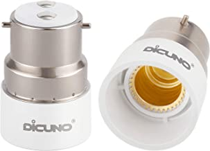 DiCUNO B22 to E14 Socket Converter, Bayonet to Small Screw Adapter, 0-250V, 165℃ Heat Resistant, 2 Packs
