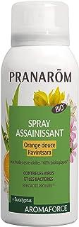 Pranarôm   Aromaforce Spray Assainissant aux Huiles Essentielles Bio de Ravintsara et Orange-Douce   Assainit et Purifie  ...