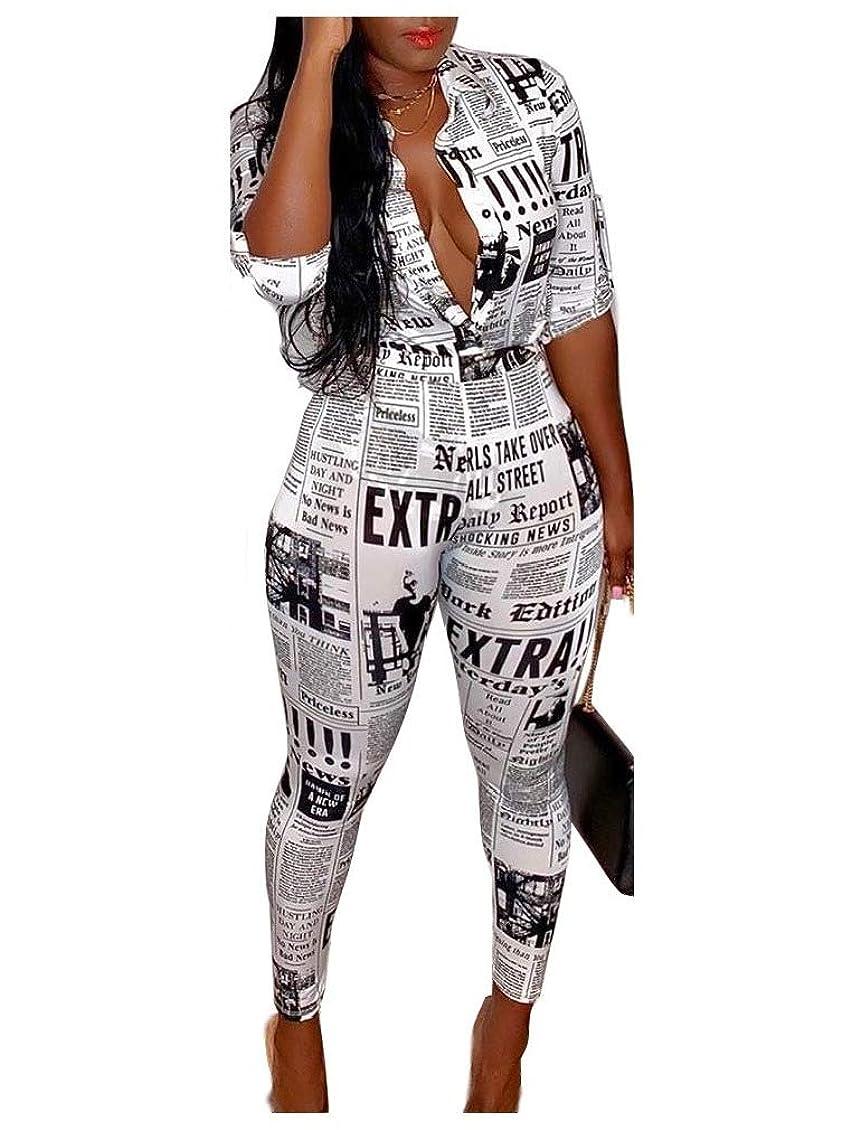 熟すウェーハ試験Womens Slim Button Casual Top and Skinny Pants Two Piece Suit
