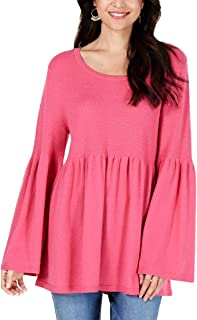 Style & Co. Womens Angel Sleeves Babydoll Sweater