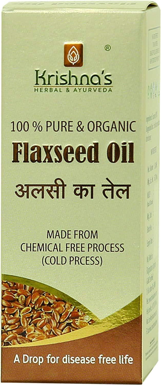 Bellentines Krishna's Herbal Ayurveda Flax Seed ml Popular Oil 200 Max 74% OFF