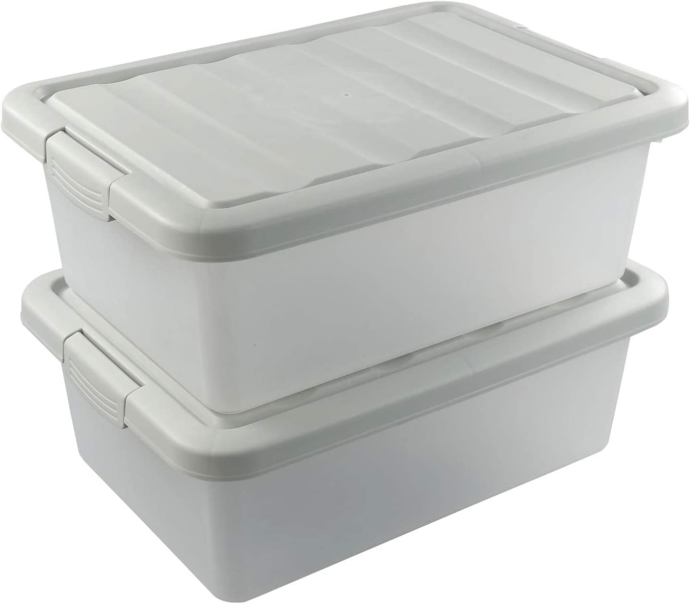 Hespapa 14 Quart Plastic Max 55% OFF Storage Latching Clear Boxes New color Bin with