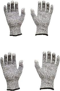 JZK 2 Paar snijbestendige handschoenen niveau 5 snijbescherming, middelgrote en extra grote snijbestendige handschoenen, a...