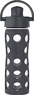 غطاء قابل للطي من لايف فاكتوري 473 مل، زجاجة مياه من زجاج الكربون