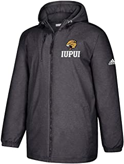 IUPUI Jaguars NCAA Men's Preferred Logo Black Game Built Full Zip Heavyweight Jacket
