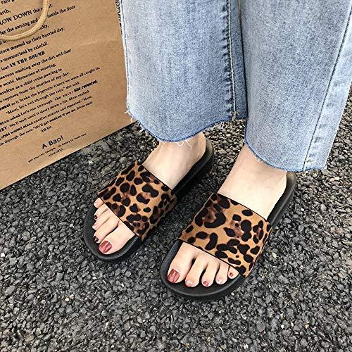 WDDNTX dames sandalen met luipaardpatroon