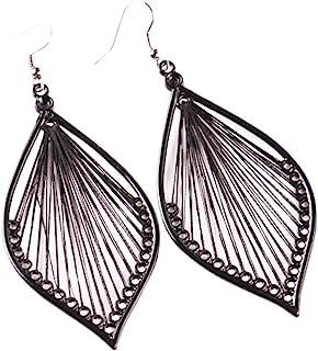 💗 Orcbee 💗 _1Pair Fashion Women Alloy Leaf Stud Dangle Earings Eardrop Jewelry New