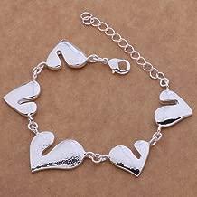 ZHOUYF® Pulseras 925 Sterling Silver Bracelet, 925 Sterling Silver Fashion Jewelry so Special Heart