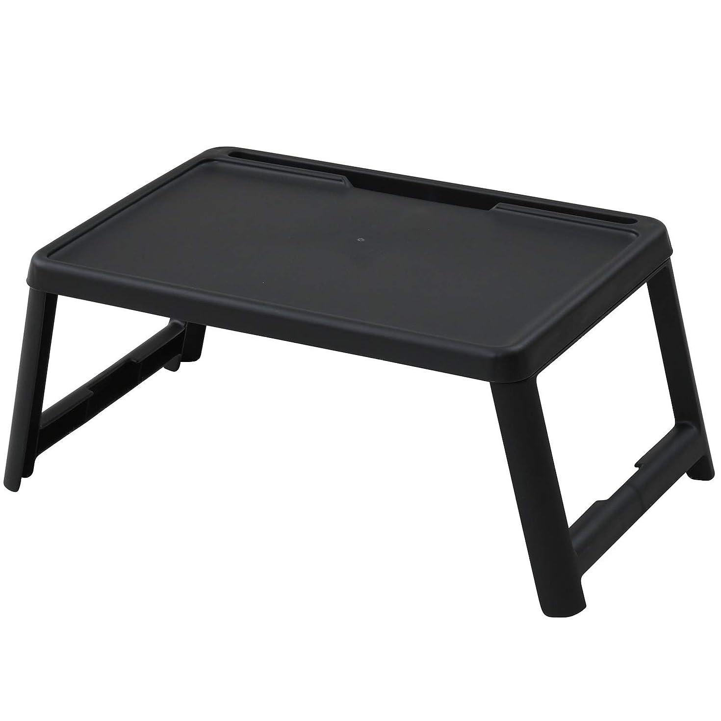 ラベメモおもしろい山善(YAMAZEN) テーブル ブラック 幅63×奥行35cm コンパクト フリーテーブル 折りたたみ CFT-5035(BK)
