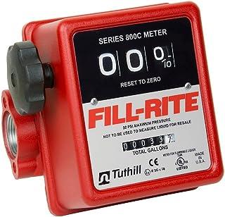 "Fill-Rite 807C1 1"" 5-20 GPM 3 Wheel Mechanical Meter, Aluminum, Fuel Transfer Gallon Meter"