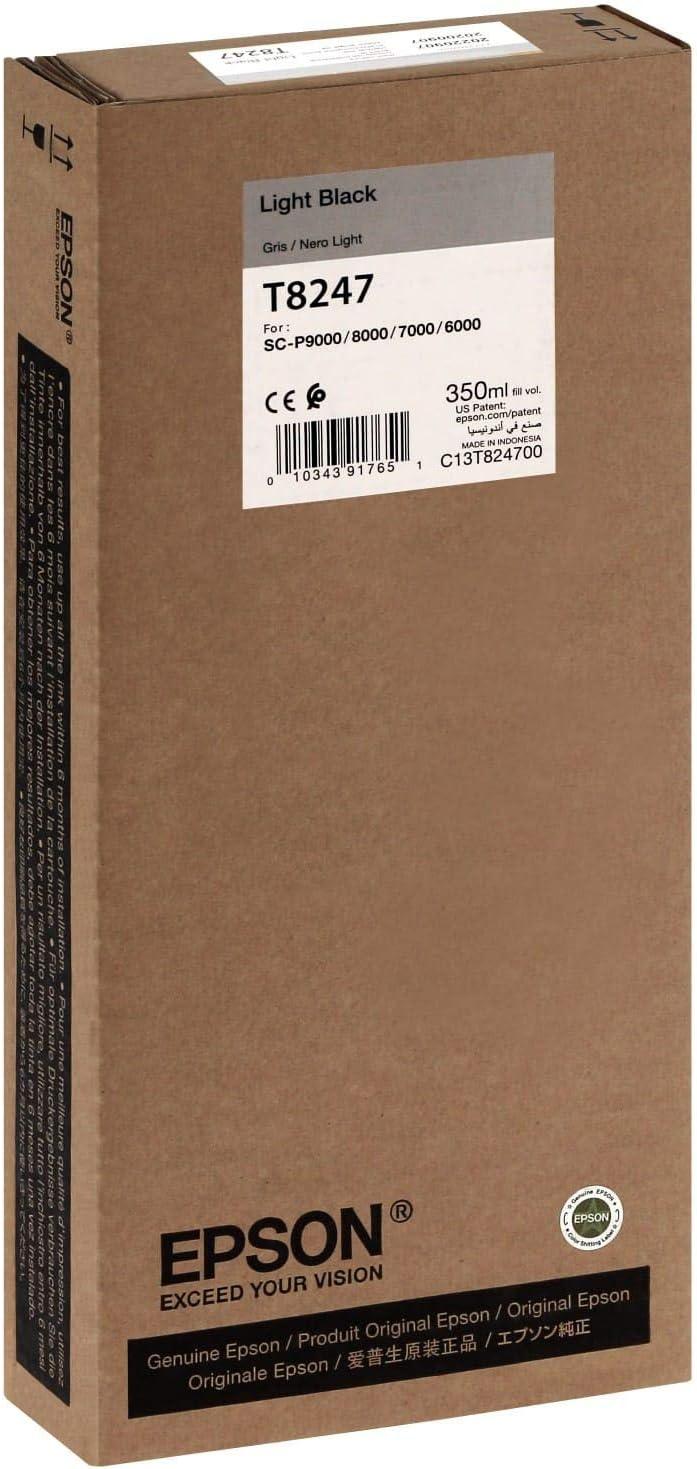 Epson UltraChrome HD Ink Cartridge - 350ml Light Black (T824700)