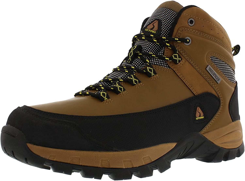Atah Aspen Aspen Aspen Mans vattentäta Hiking Mid -Cut Camel  svart skor  officiell kvalitet
