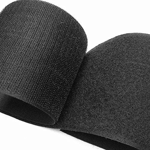 Strisce larghe 50 mm, 100 mm, 150 mm, da cucire su ganci e passanti con chiusura in tessuto di nylon sul retro non adesivo, per cuscini, gestione cavi e progetti artigianali (100 mm x 1 metro)