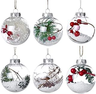 *m·kvfa* Christmas Tree Pendant Hanging Home Ornament Christmas Decoration Ball for Xmas Inddor Outdoor Wall Door Hanging Party Décor, Festive Season Pendant 6Pcs