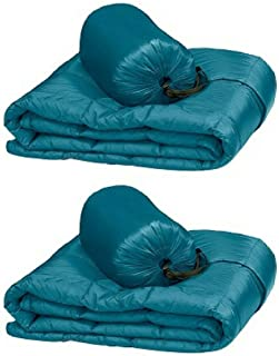 Double Black Diamond Packable Down Throw - Ultra Light 60 Inch X 70 Inch, Stuff Sack Included (Green), 2-pack