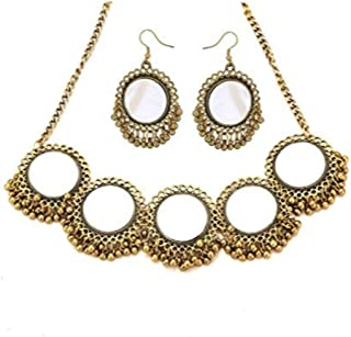 YouBella Jewellery Bollywood Ethnic Afghani Traditional Indian Necklace Set with Earrings for Women