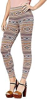 First Looks Womens Navajo Stripe Seamless Leggings Small/Medium -$26 -NWT