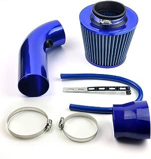 DELIPOP filtro aire coche universal Cromado filtro de aire conico completo azul