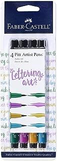 Faber-Castell Pitt Artist Pens - Brush Lettering - 4 Jewel Toned Colors