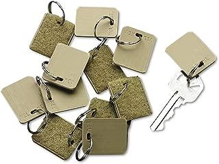 SecurIT 4985 Extra Blank Hook & Loop Tags, Security-Backed, 1 1/8 X 1, Beige, 12/pack