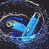 RovyVon Aurora A7 LED-Taschenlampe mit 550 Lumen, wiederaufladbare Cree-USB-Mini-Taschenlampe, fluoreszierendes Blau, superhelles EDC-Licht