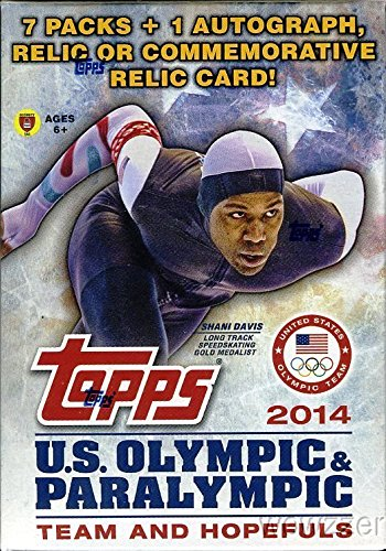 2014 Topps USA Olympics Team+Hopefuls Factory Sealed Retail Box with 7 Packs and AUTOGRAPH or RELIC Card ! �