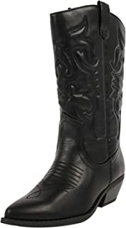 Women's Red Reno Western Cowboy Pointed Toe Knee High Pull On Tabs Boots