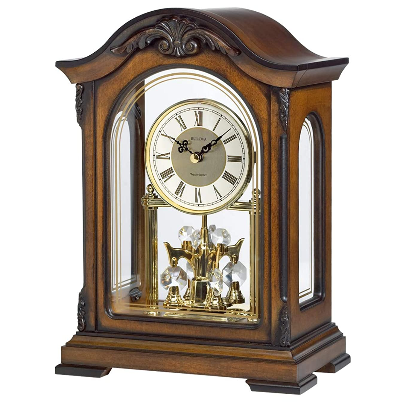 Bulova B1845 Durant Chiming Clock, Walnut