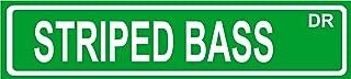 STRIPED BASS fish street sign 4