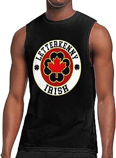 Letterkenny Irish Shoresy Ice Hockey Shamrocks Mens Compression Tank Top T-Shirts