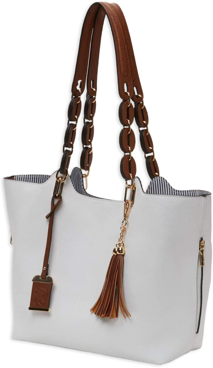 Bulldog Cases BDP-055 Braided Tote Style w Holster Albuquerque Be super welcome Mall Purse - White