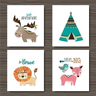 zxddzl Habitación Infantil de Dibujos Animados de Animales Pintura de Calidad jardín de Infantes decoración del hogar sin Marco 2 30 * 42