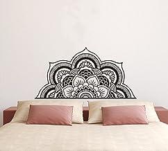 YOYOYU ART HOME DECOR Wall Decal Half Mandala Headboard Wall Sticker Yoga Boho Indian OM Mandala Flower Wall Sticker Art L...