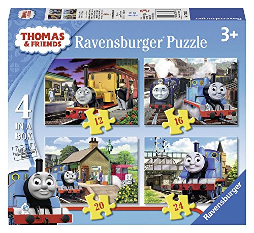 Thomas & Friends - Paquete de 4 Puzzles, en una Caja (Ravensburger 07070 1)