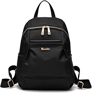 Xuan Yuan Backpack - Women's Fashion Simple Canvas Oxford Backpack Casual Light Travel Bag Waterproof Anti-Theft Multi-Function Large Capacity Bag Backpack (Color : Black)