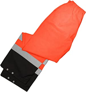 ML Kishigo RWP103 Storm Cover High-Viz Rainwear Pant, Fits Large and Extra Large, Orange