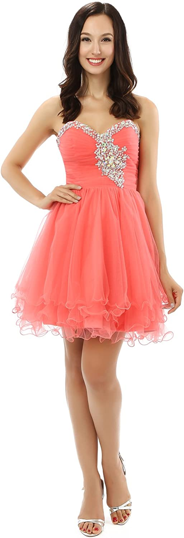 SunshineLady Girl's Satin Organza Strapless Bridesmaid Flower Girl Dress
