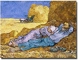 Siesta, After Mille, 1890 by Vincent van Gogh, 35 by 47-Inch Canvas Wall Art