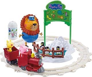Bandai- Peppa Pig Trenecito en el Zoo con Accesorios (6698)